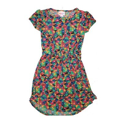 LuLaRoe Kids Mae Pocket Dress Size 6 fits Kids 5-6