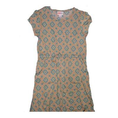 LuLaRoe Kids Mae Pocket Dress Size 10 fits Kids 8-10