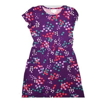 LuLaRoe Kids Mae Pocket Dress Size 12 fits Kids 12-14