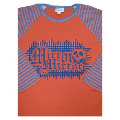 LuLaRoe Randy Small S Disney Halloween Mirror Mirror Raglan Sleeve Unisex Baseball Womens Tee Shirt - S fits 6-8