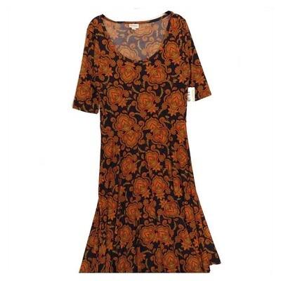 LuLaRoe NICOLE Large L Womens Full Circle Skirt Dress fits 14-16