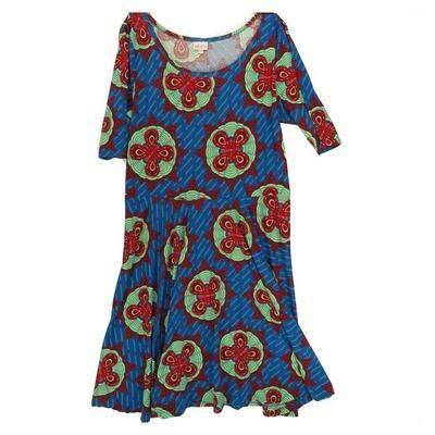 LuLaRoe NICOLE XXX-Large 3XL Womens Full Circle Skirt Dress fits 24-26