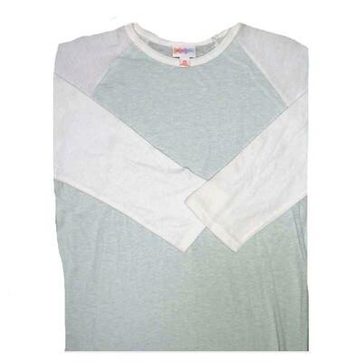 LuLaRoe Randy X-Small Solid Raglan Sleeve Unisex Baseball Womens Tee Shirt - XS fits 2-4
