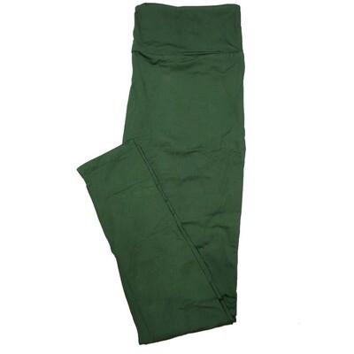 LuLaRoe Tall Curvy TC Solid Dark Hunter Green (544060) Womens Leggings fits Adult sizes 12-18