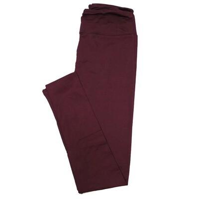 LuLaRoe Tall Curvy TC Solid Burgundy (575761) Womens Leggings fits Adult sizes 12-18