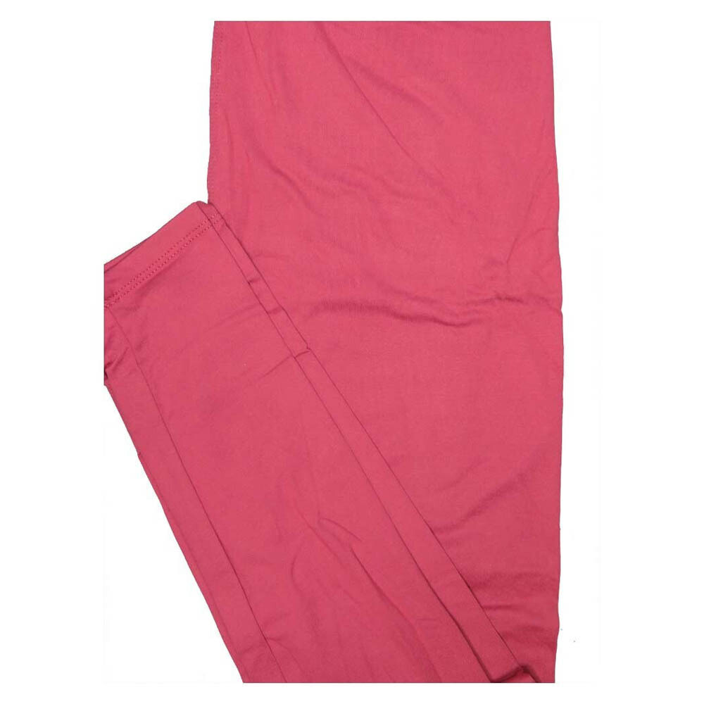 LuLaRoe One Size OS Solid Rosy Pink (598838) Womens Leggings fits Adult sizes 2-10