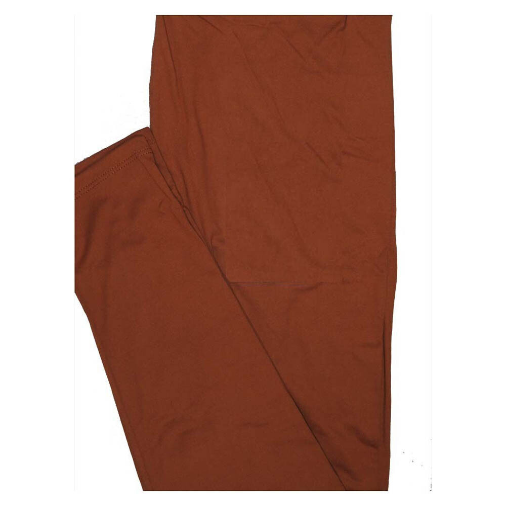 LuLaRoe One Size OS Solid Indian Brown (419549) Womens Leggings fits Adult sizes 2-10