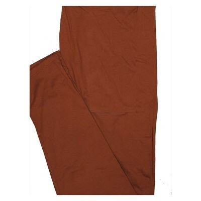 LuLaRoe Tween Solid Brown (419549) Womens Leggings fits Adult sizes 00-0