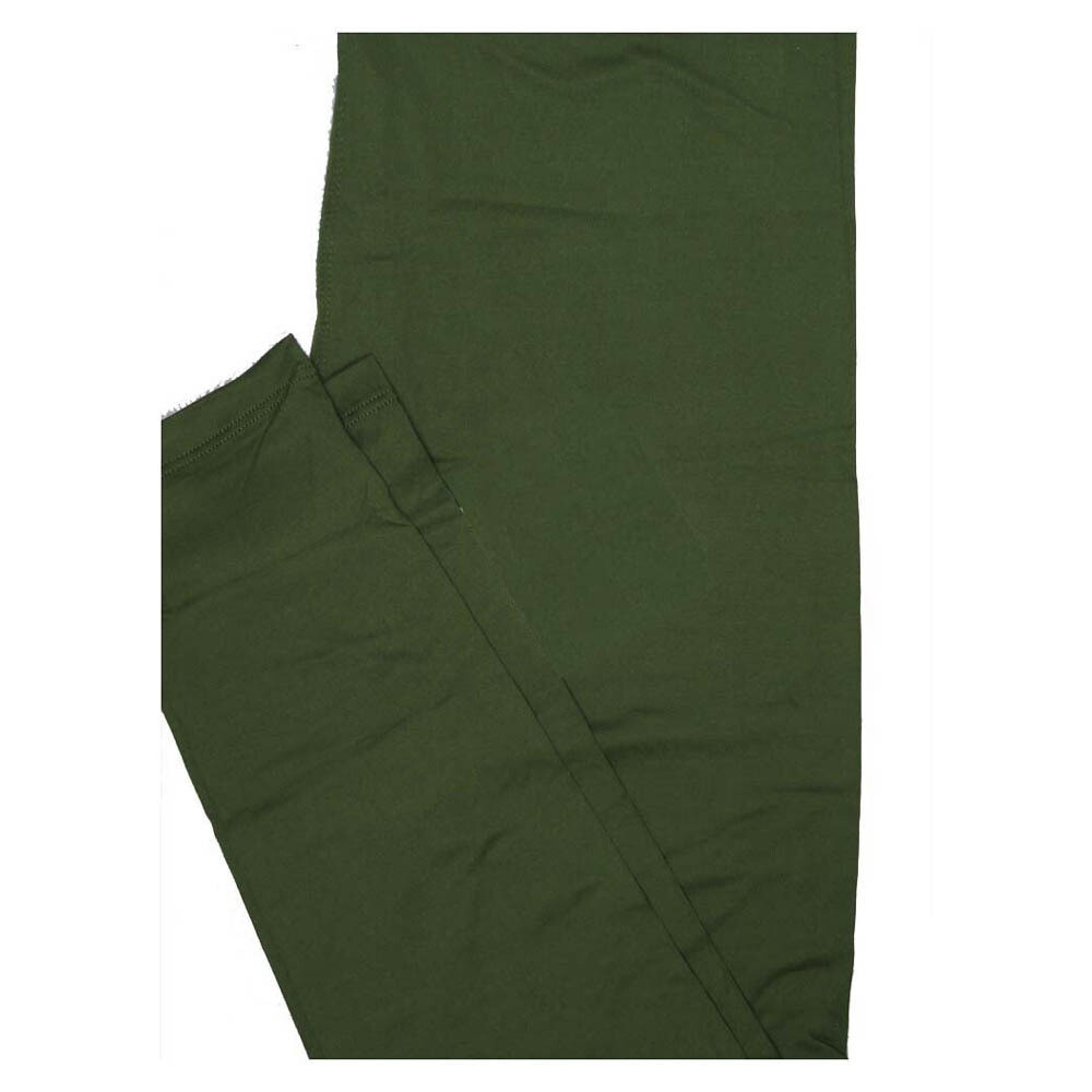 LuLaRoe One Size OS Solid Olive Green (567137) Womens Leggings fits Adult sizes 2-10