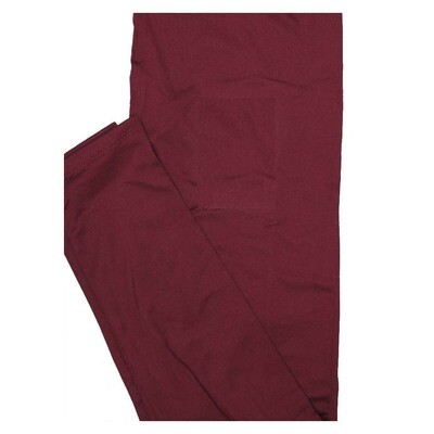 LuLaRoe One Size OS Solid Cranberry Sauce (402642) Womens Leggings fits Adult sizes 2-10