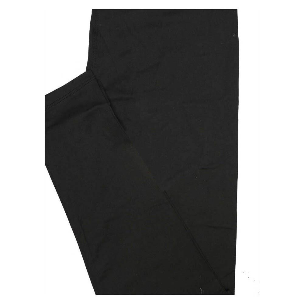 LuLaRoe Tween Solid Black Womens Leggings fits Adult sizes 00-0