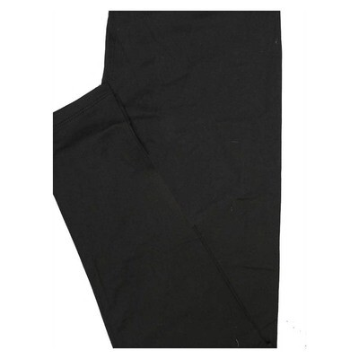 LuLaRoe Tween Solid Black Womens Leggings fits Adult sizes 00-0