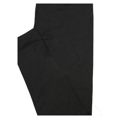 LuLaRoe One Size OS Solid New Black (495745) Womens Leggings fits Adult sizes 2-10