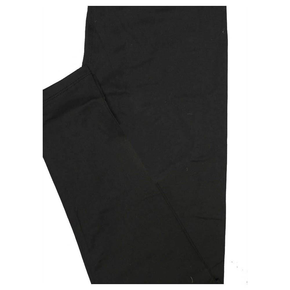 LuLaRoe One Size OS Solid Soft Black Charcoal (574034) Womens Leggings fits Adult sizes 2-10