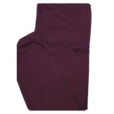 LuLaRoe One Size OS Solid Deep Purple (433343) Womens Leggings fits Adult sizes 2-10