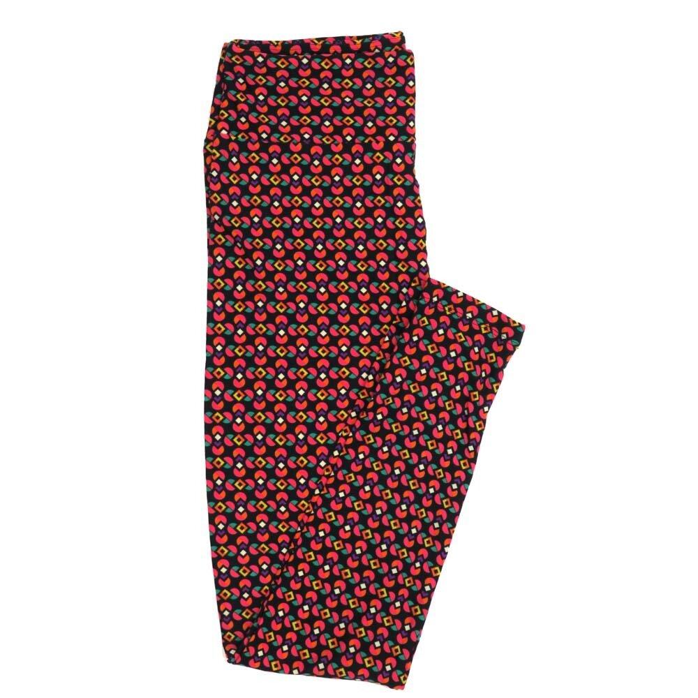 LuLaRoe One Size OS Stripes Grid Black White Fucshia Buttery Soft Womens Leggings fit Adult sizes 2-10  OS-4351-AE