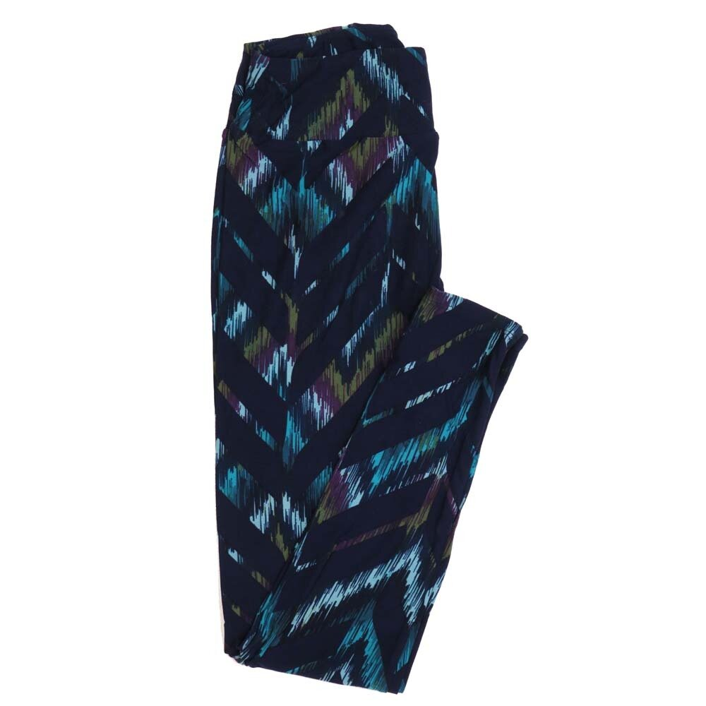 LuLaRoe One Size OS  Zig Zags Buttery Soft Womens Leggings fit Adult sizes 2-10  OS-4351-AH