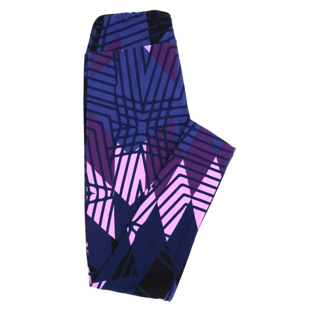 LuLaRoe One Size OS Stripes Zig Zags Buttery Soft Womens Leggings fit Adult sizes 2-10  OS-4351-AR