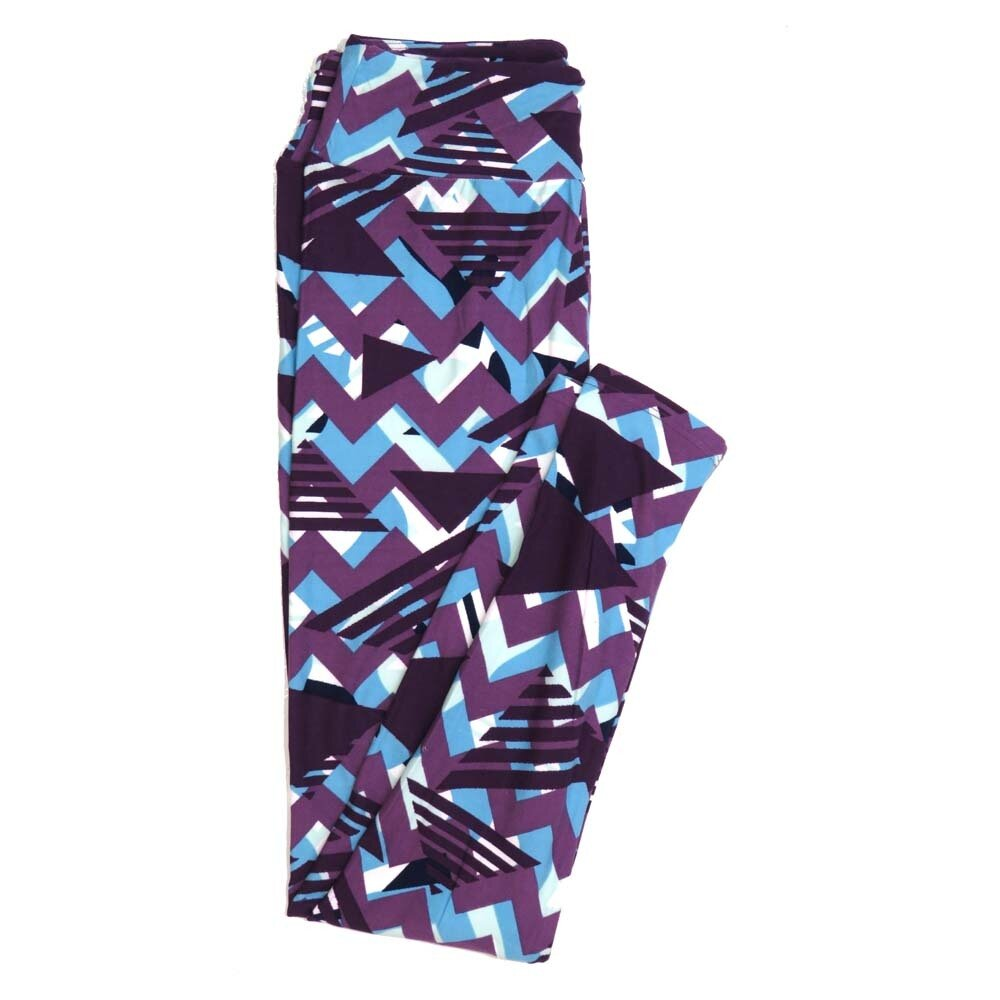 LuLaRoe One Size OS Traingles and Zig Zags Buttery Soft Womens Leggings fit Adult sizes 2-10  OS-4351-AT