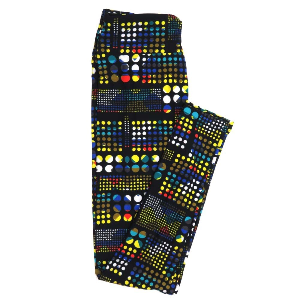 LuLaRoe One Size OS Rainbow Multi Polka Dot Buttery Soft Womens Leggings fit Adult sizes 2-10  OS-4352-AW