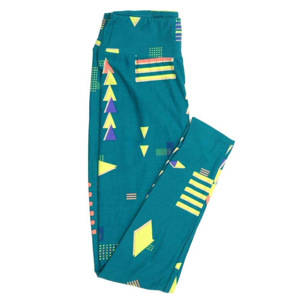 LuLaRoe One Size OS Polka Dot Triangle Diamond Stripe Buttery Soft Womens Leggings fit Adult sizes 2-10  OS-4353-AF