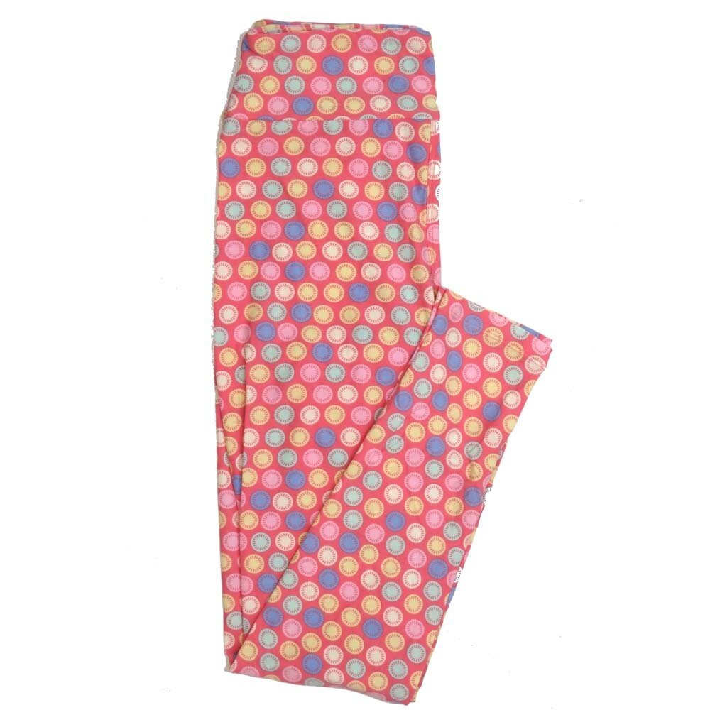 LuLaRoe One Size OS Multi Color Polka Dot Buttery Soft Womens Leggings fit Adult sizes 2-10  OS-4353-AH