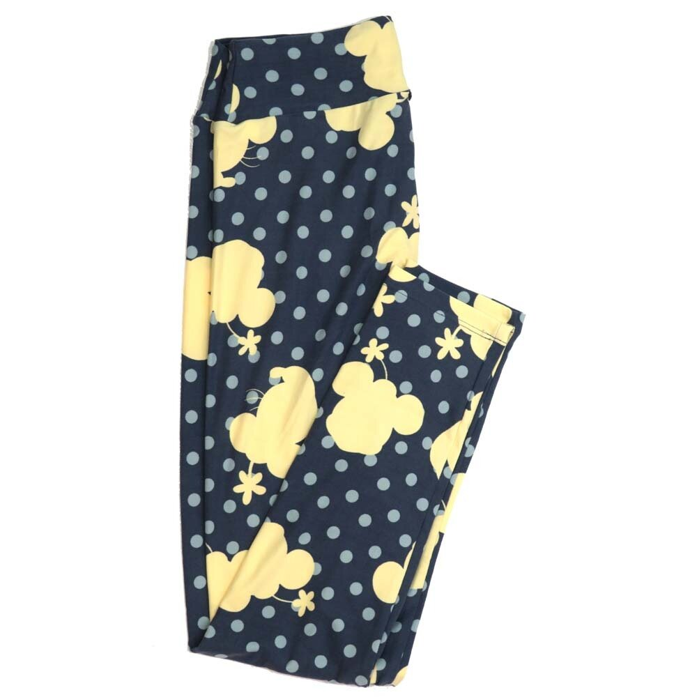 LuLaRoe One Size OS Disney Minnie Mouse Polka dot Shadow Buttery Soft Womens Leggings fit Adult sizes 2-10  OS-4355-AF