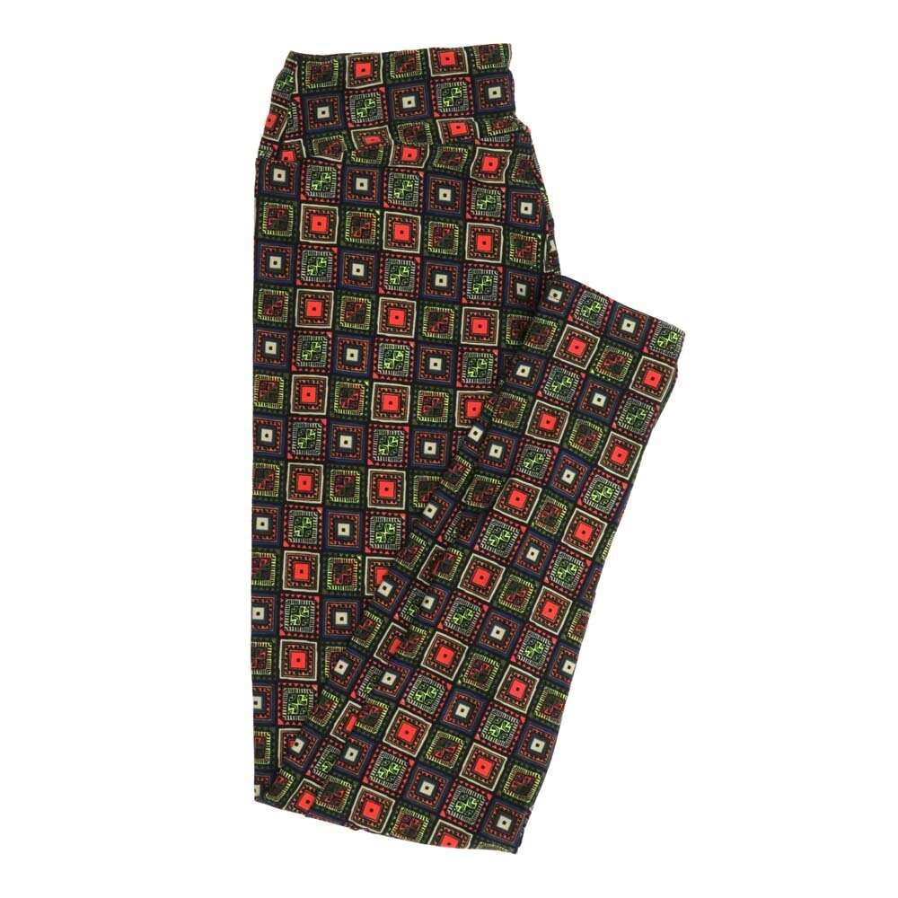 LuLaRoe One Size OS Patchwork Checkerboard Buttery Soft Womens Leggings fit Adult sizes 2-10  OS-4357-AH
