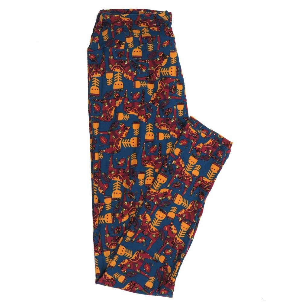 LuLaRoe One Size OS South American Horse Decorated Buttery Soft Womens Leggings fit Adult sizes 2-10  OS-4357-AM