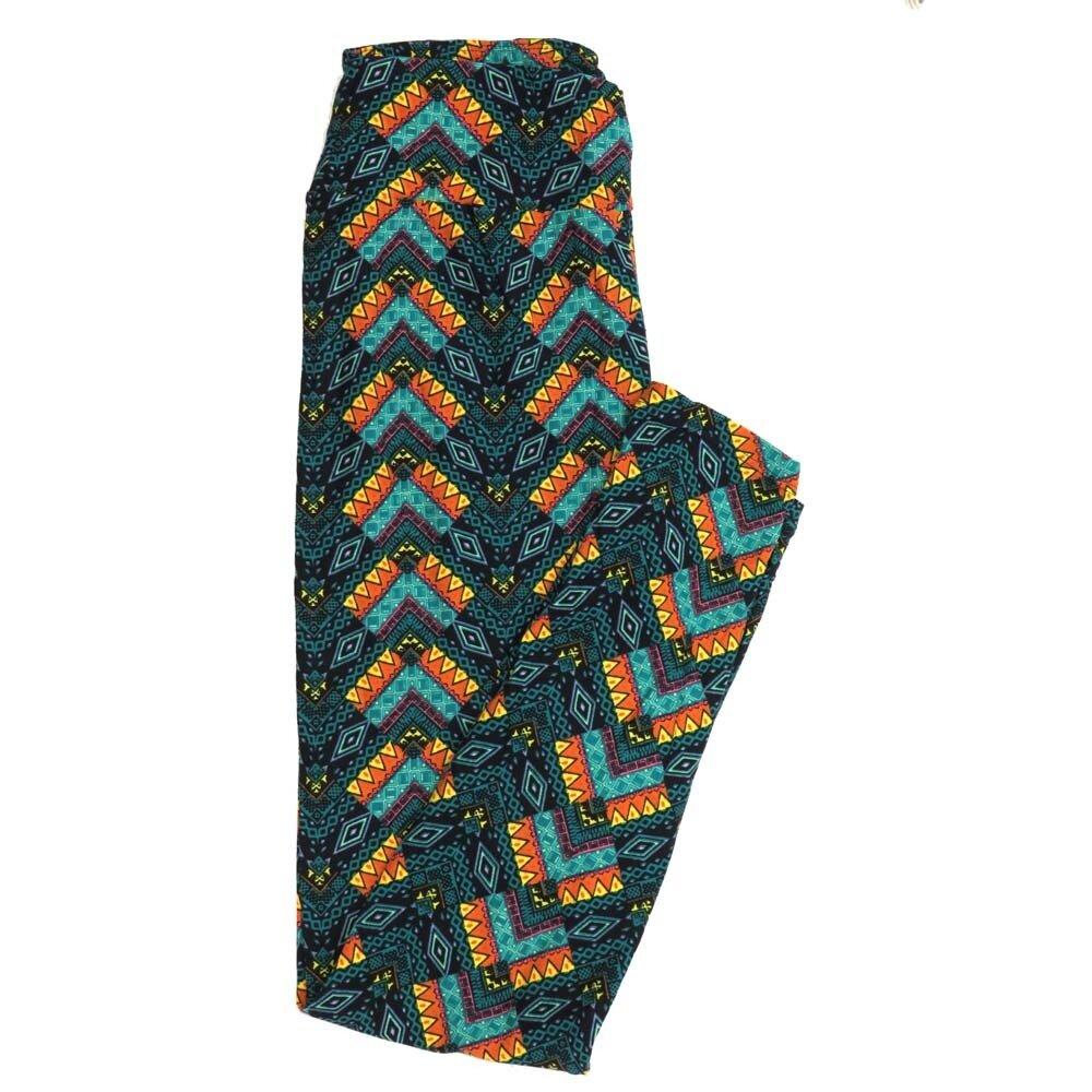 LuLaRoe One Size OS Southwestern Gods Eye Zig Zag Stripe Buttery Soft Womens Leggings fit Adult sizes 2-10  OS-4358-AD