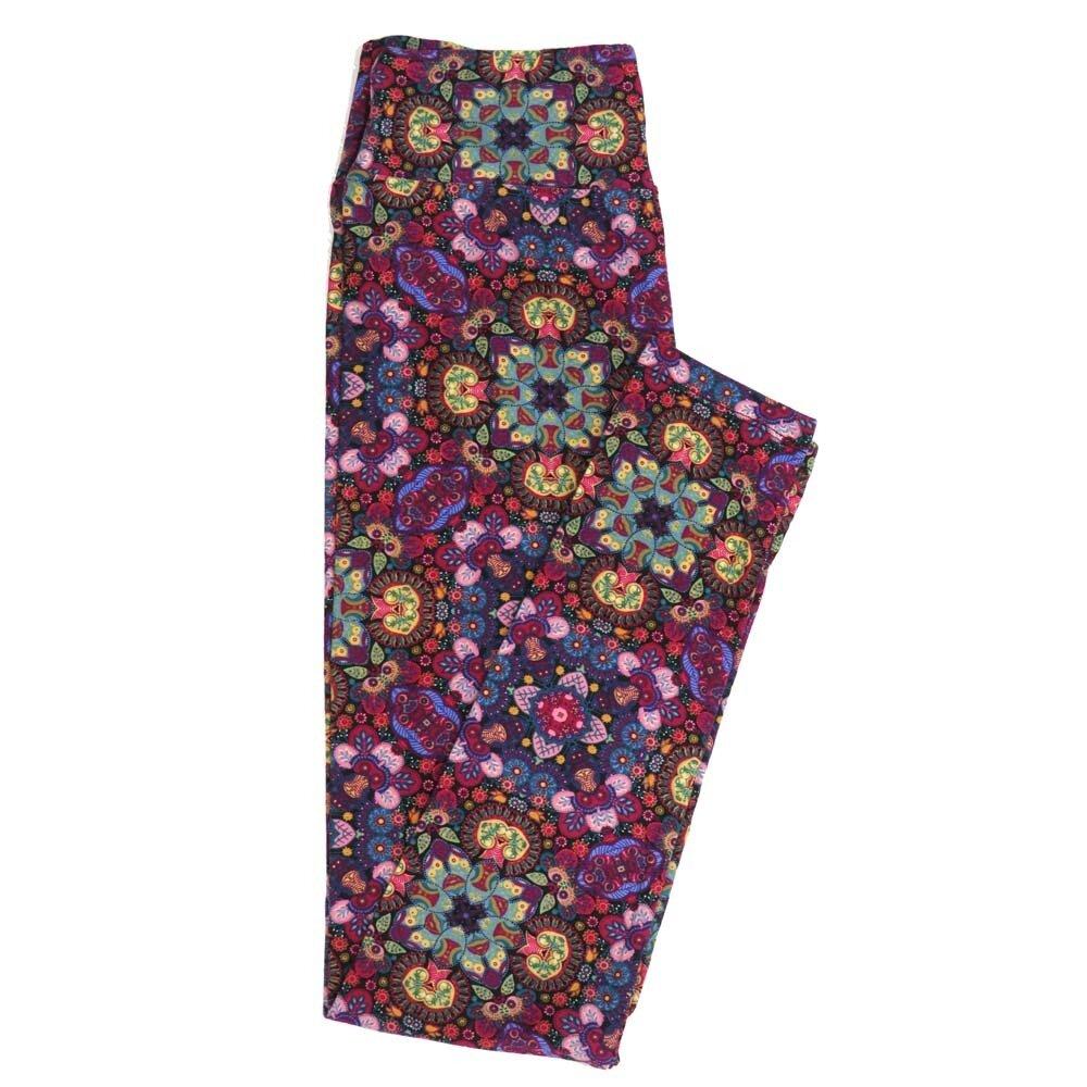 LuLaRoe One Size OS Mandala Trippy Kaleidescope Buttery Soft Womens Leggings fit Adult sizes 2-10  OS-4358-AS