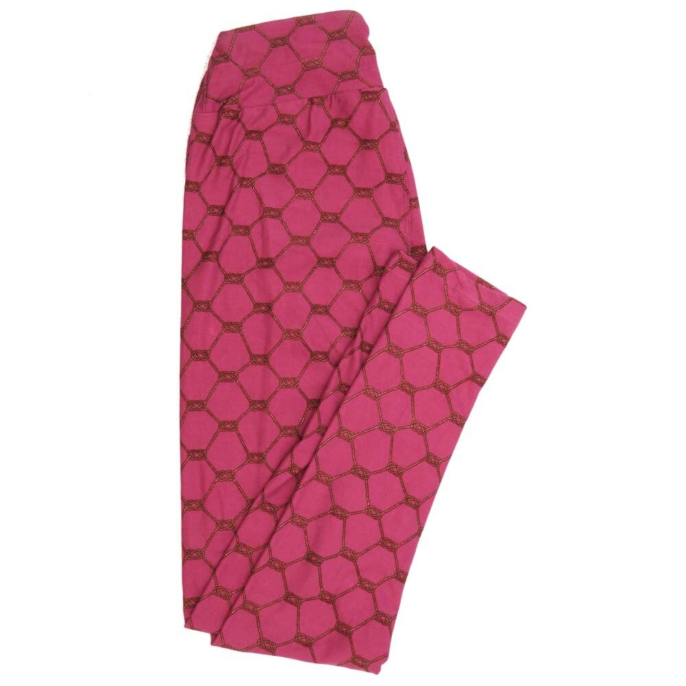 LuLaRoe One Size OS Love Rope Knots Valentines Pink Buttery Soft Womens Leggings fit Adult sizes 2-10  OS-4358-BL