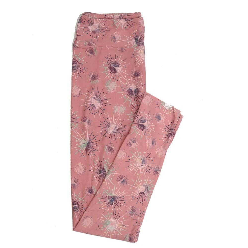 LuLaRoe One Size OS Exploding Fireworks Polka Dot Buttery Soft Womens Leggings fit Adult sizes 2-10  OS-4359-AA
