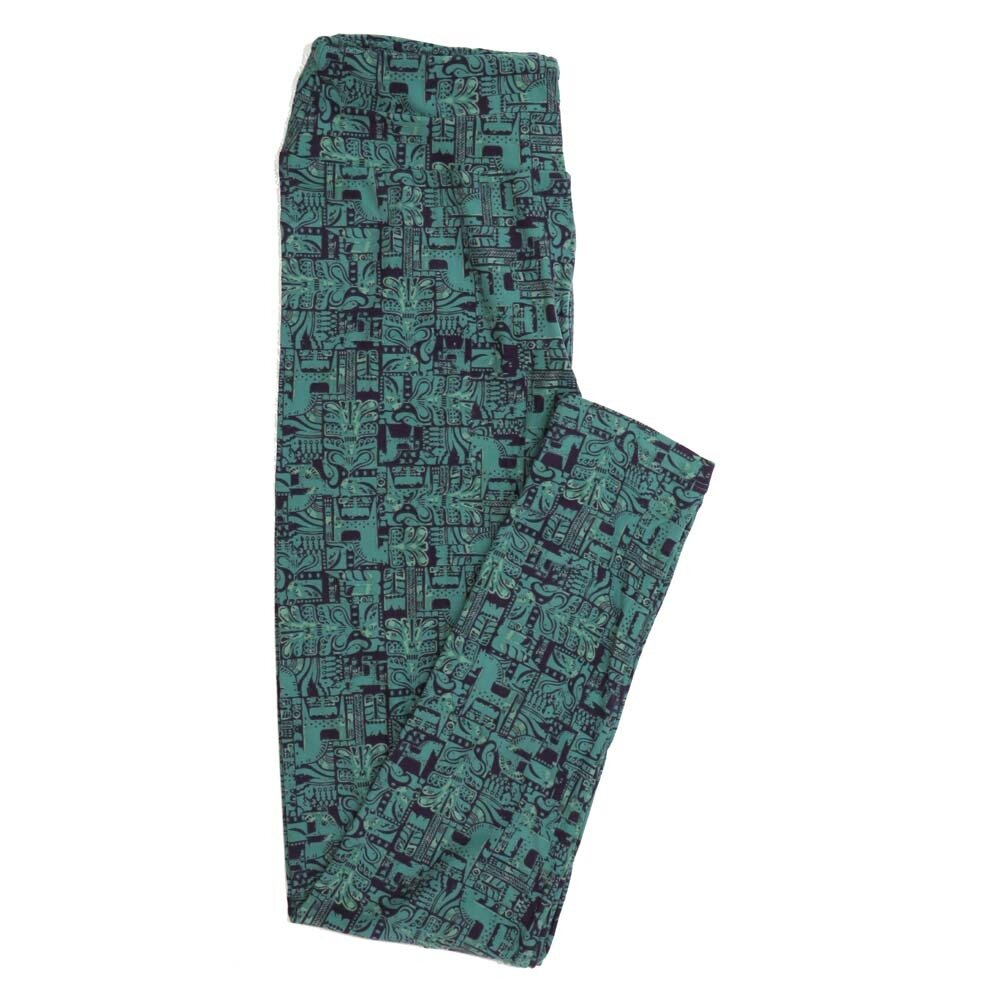 LuLaRoe One Size OS South American Incan Mayan Horses Animals Buttery Soft Womens Leggings fit Adult sizes 2-10  OS-4359-BG