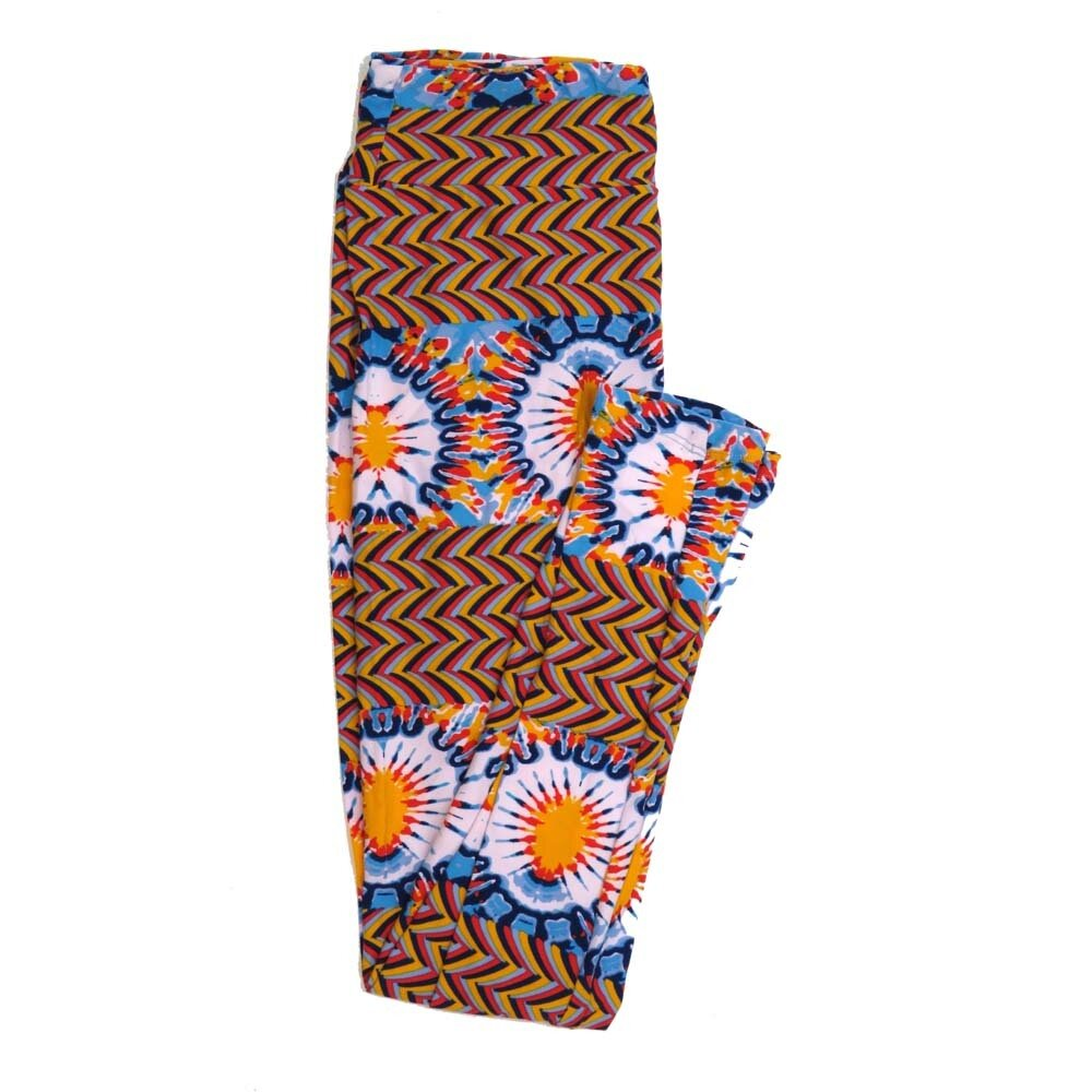 LuLaRoe One Size OS Tye Dye Herringbone Stripe Buttery Soft Womens Leggings fit Adult sizes 2-10  OS-4360-AP
