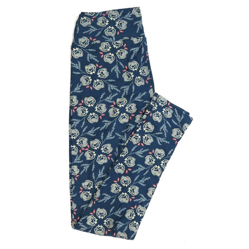 LuLaRoe One Size OS Roses Buttery Soft Womens Leggings fit Adult sizes 2-10  OS-4362-AE