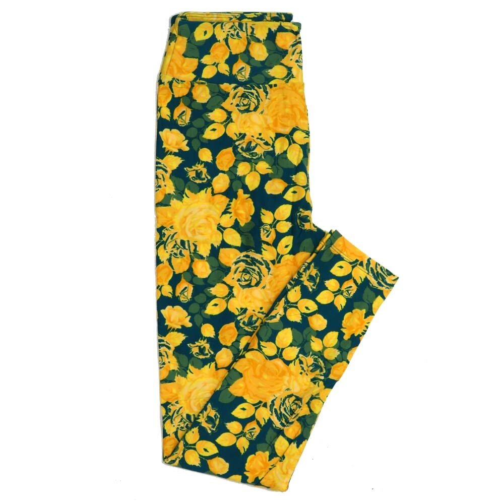 LuLaRoe One Size OS Roses Buttery Soft Womens Leggings fit Adult sizes 2-10  OS-4362-AI