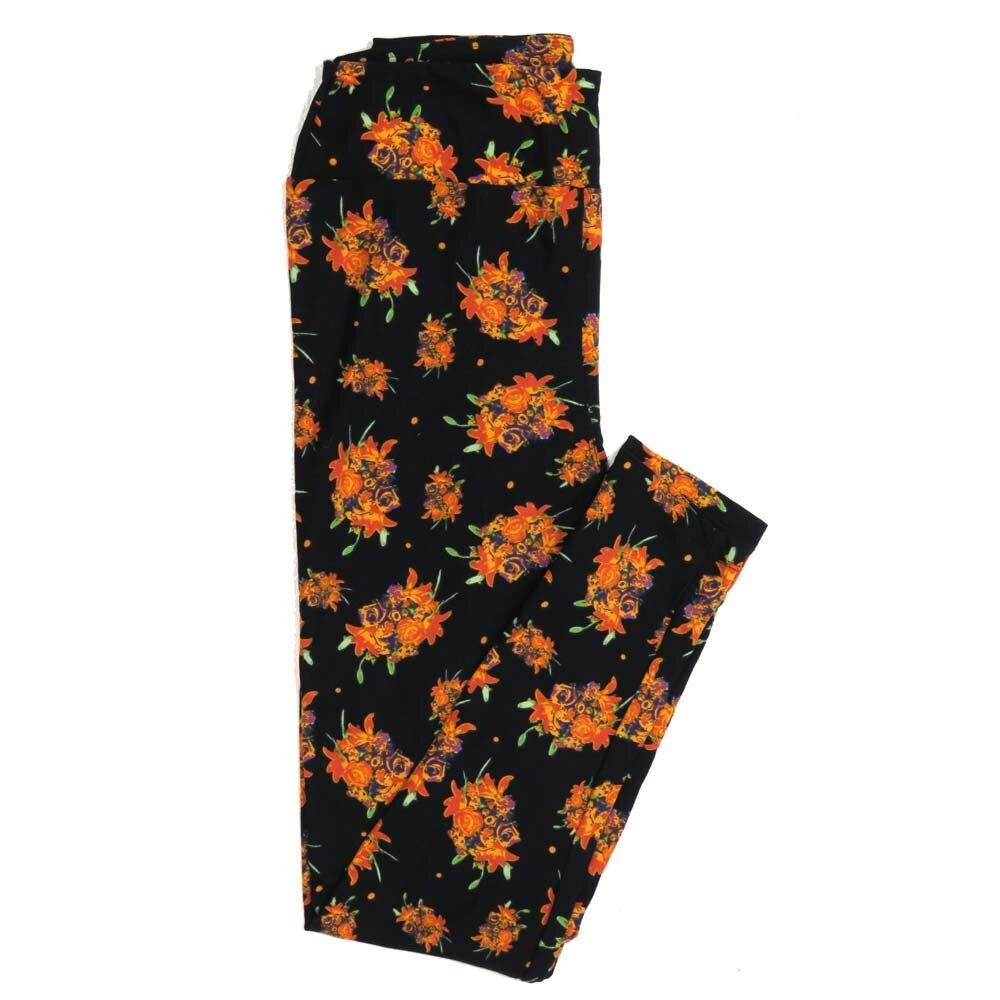 LuLaRoe One Size OS Roses Buttery Soft Womens Leggings fit Adult sizes 2-10  OS-4362-AP