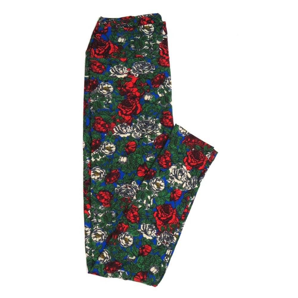 LuLaRoe One Size OS Roses Buttery Soft Womens Leggings fit Adult sizes 2-10  OS-4362-AS