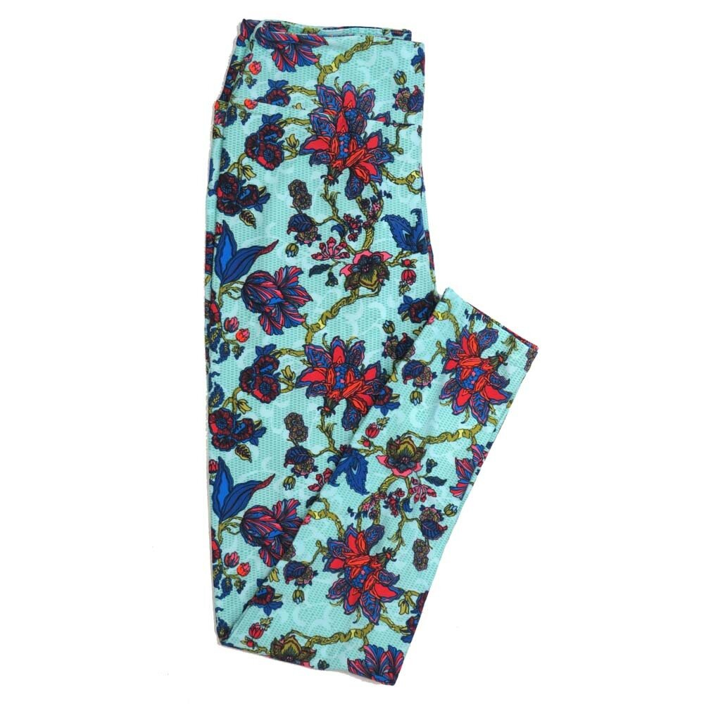 LuLaRoe One Size OS Floral Buttery Soft Womens Leggings fit Adult sizes 2-10  OS-4363-AJ-S