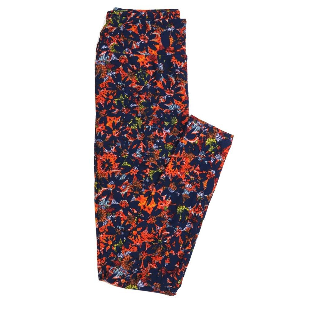 LuLaRoe One Size OS Floral Buttery Soft Womens Leggings fit Adult sizes 2-10  OS-4363-AK