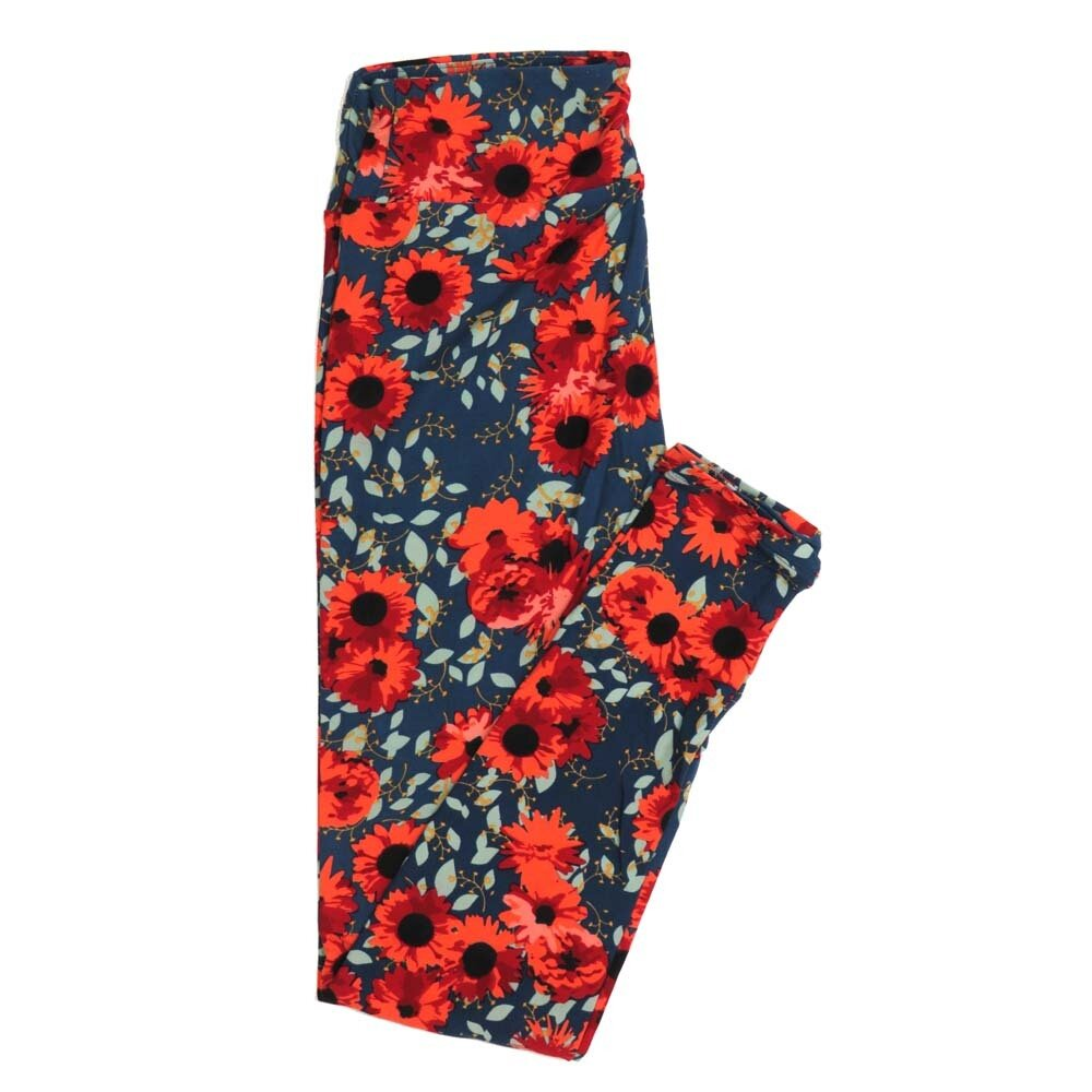 LuLaRoe One Size OS Floral Buttery Soft Womens Leggings fit Adult sizes 2-10  OS-4364-AU
