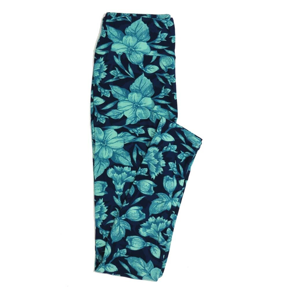 LuLaRoe One Size OS Floral Buttery Soft Womens Leggings fit Adult sizes 2-10  OS-4365-AB