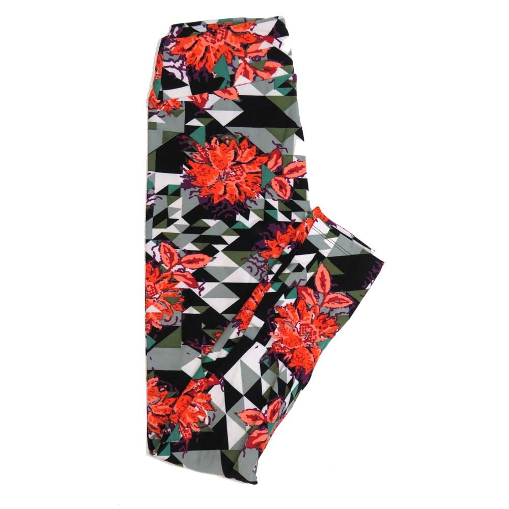 LuLaRoe One Size OS Floral Buttery Soft Womens Leggings fit Adult sizes 2-10  OS-4365-AI
