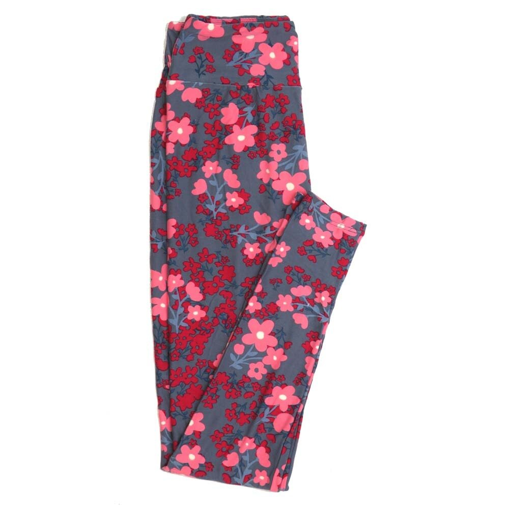 LuLaRoe One Size OS Floral Buttery Soft Womens Leggings fit Adult sizes 2-10  OS-4365-AK