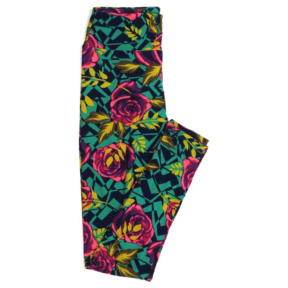LuLaRoe One Size OS Roses Buttery Soft Womens Leggings fit Adult sizes 2-10  OS-4365-AL