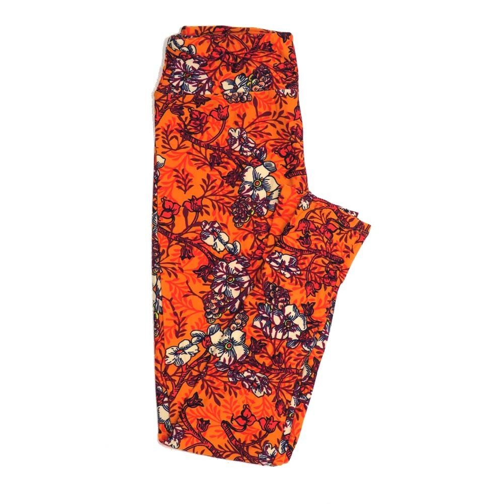 LuLaRoe One Size OS Floral Buttery Soft Womens Leggings fit Adult sizes 2-10  OS-4365-AM