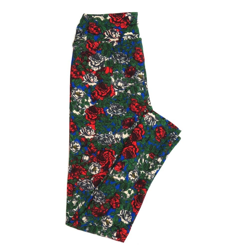 LuLaRoe One Size OS Floral Buttery Soft Womens Leggings fit Adult sizes 2-10  OS-4365-AU