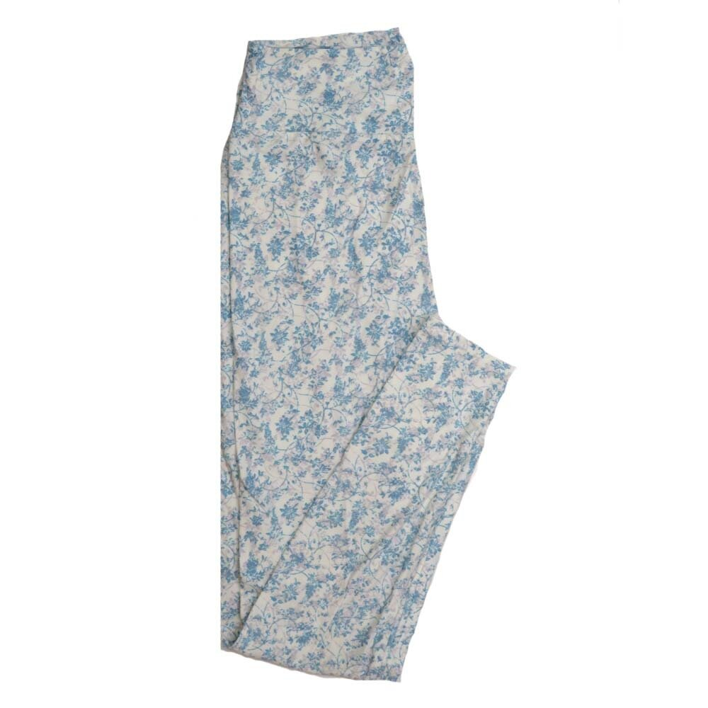 LuLaRoe One Size OS Floral Buttery Soft Womens Leggings fit Adult sizes 2-10  OS-4365-AV