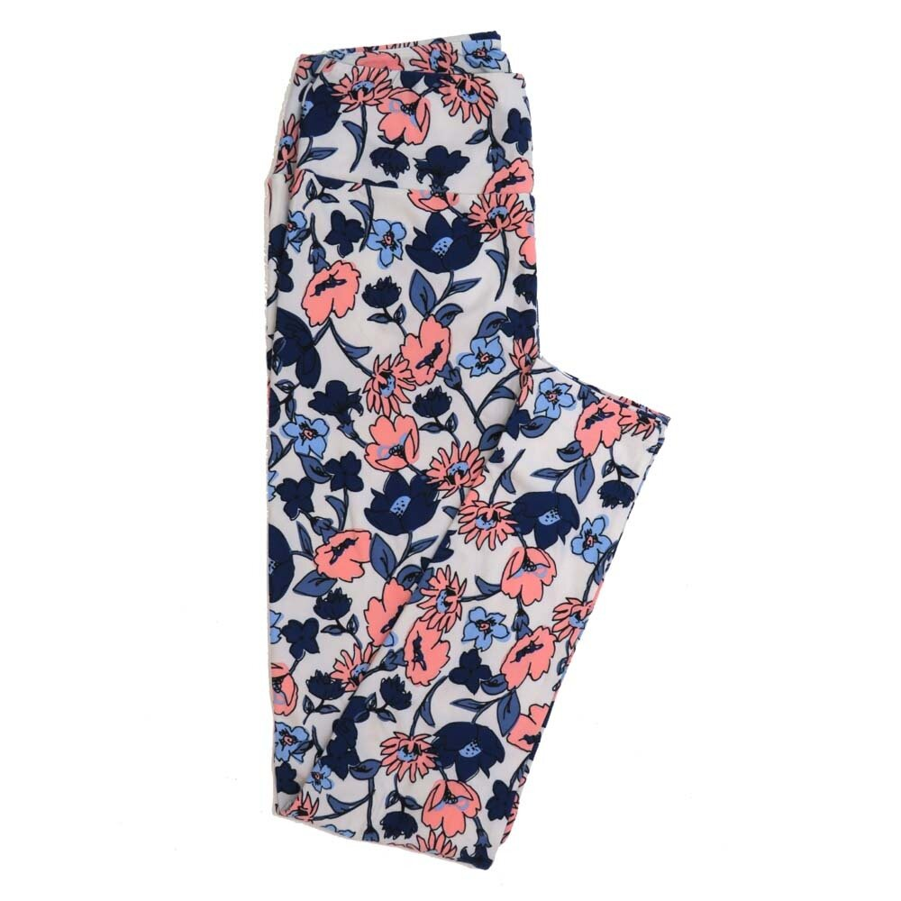 LuLaRoe One Size OS Floral Buttery Soft Womens Leggings fit Adult sizes 2-10  OS-4365-AW